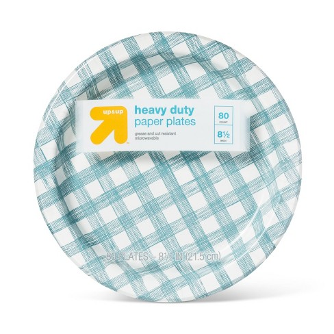 "Line Plaid Paper Plate 8.5"" - 80ct - Up&Up™ - image 1 of 2"