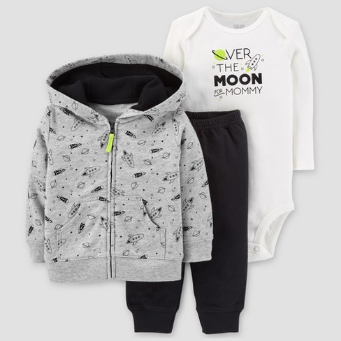 4c0596b60 Baby Boys  Cotton 3pc Hooded Over The Moon Set - Just One You® Made ...