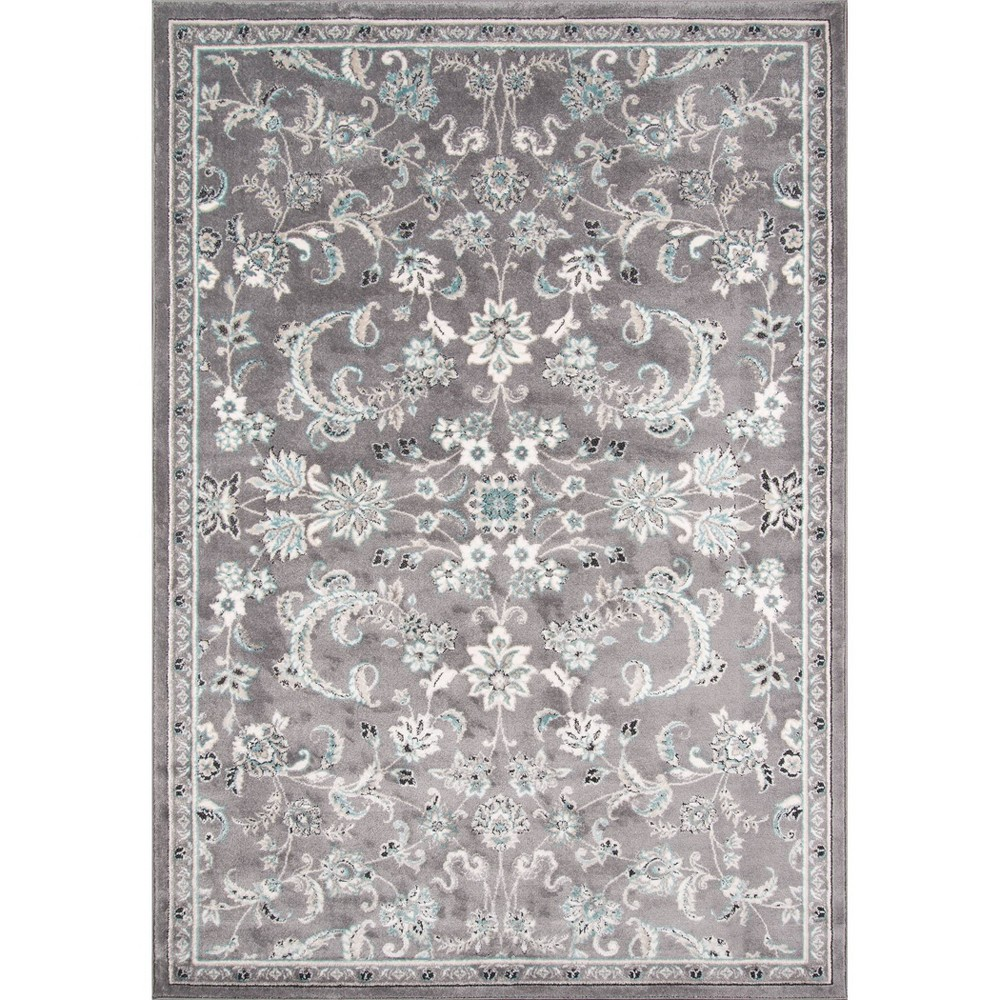 Sterling Gray Floral Loomed Area Rug 9'6