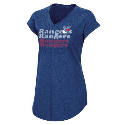NHL New York Rangers Women's Team Pride V-Neck T-Shirt - XL