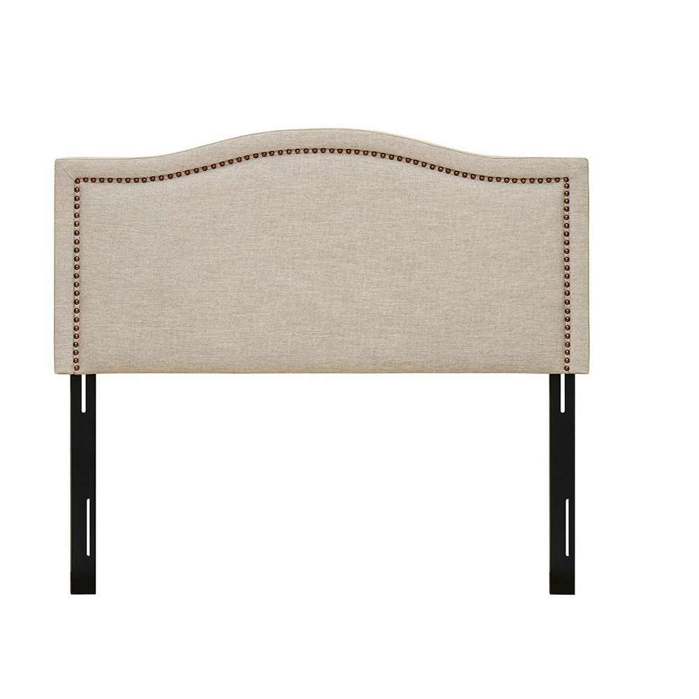 Iverson Upholstery Headboard Queen Natural, White