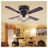 Warehouse Of Tiffany - 21 X 13 X 11 Inch Black Espresso Lighted Ceiling Fans - image 2 of 4