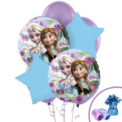Birthday Express Frozen Party Anna And Elsa Balloon Bouquet - 10 Pack