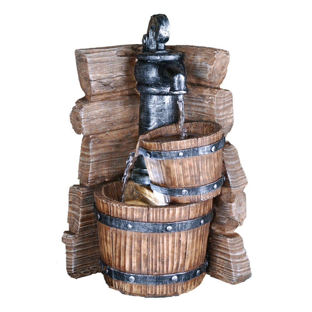 "Image of ""11.5"""" H Resin Outdoor Fountain - Brown - Ore International"""