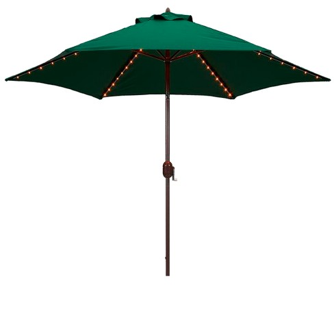 9' Round Lighted Patio Umbrella - Green : Target