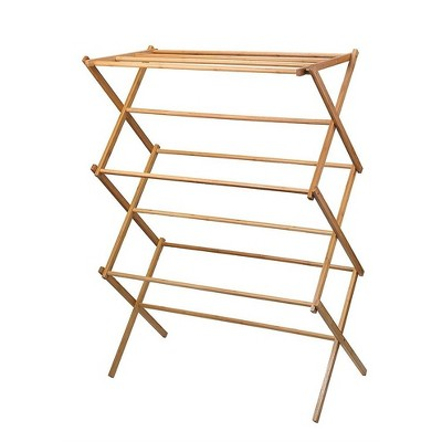 Homeitusa Wooden Clothes Drying Rack - Natural