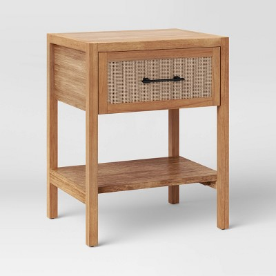 Warwick End Table with Drawer Natural - Threshold™