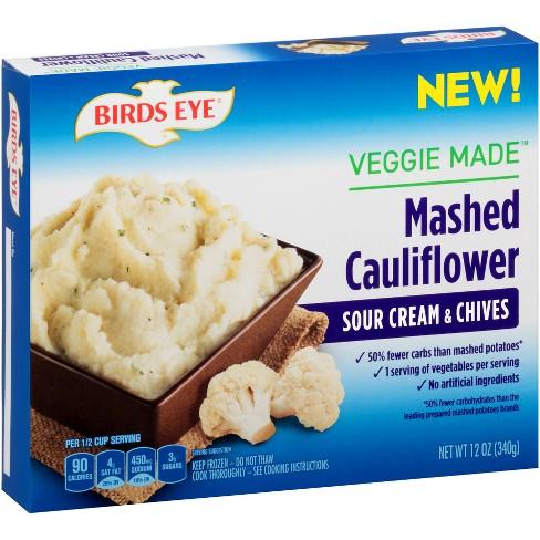 Birds Eye Sour Cream & Chives Frozen Mashed Cauliflower - 12oz - image 1 of 1