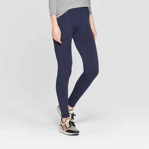 1478312d2 Women s Fleece Lined Tights - A New Day™ Navy L XL   Target