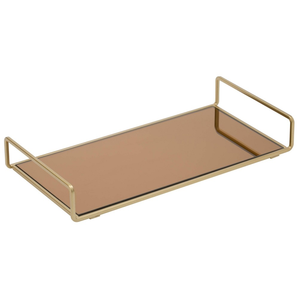 Image of Bathroom Tray Gold - Home Details