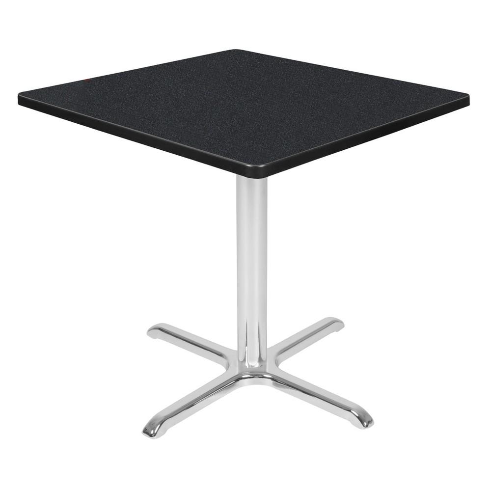 30 Via Square X - Base Table Carbon/Chrome (Black/Grey) - Regency