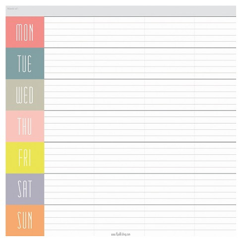 "TF Publishing Glory Days Weekly Non-Dated Adhesive Desk Pad, (7.75"" x 7.75"") - image 1 of 3"