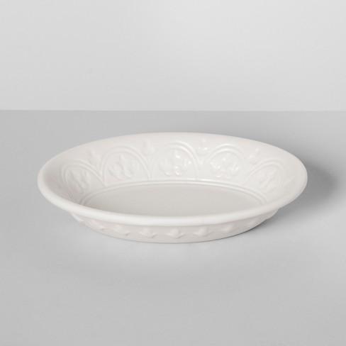 Mallorca Porcelain Soap Dish White - Threshold™ - image 1 of 2