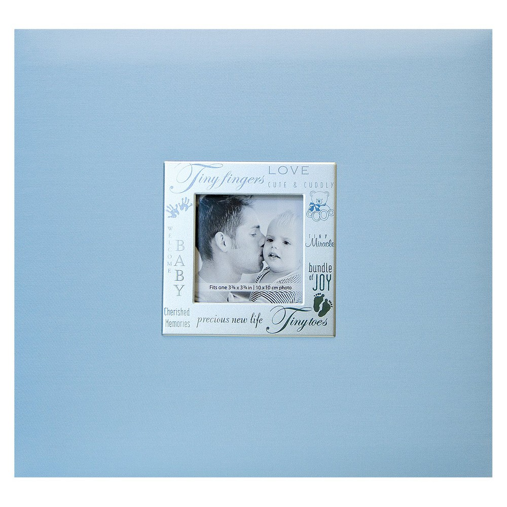 Image of Baby Expressions Postbound Album - Blue (8x8), Baby Blue