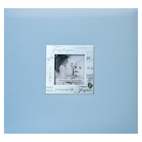 Baby Expressions Postbound Album Blue 8x8 Target