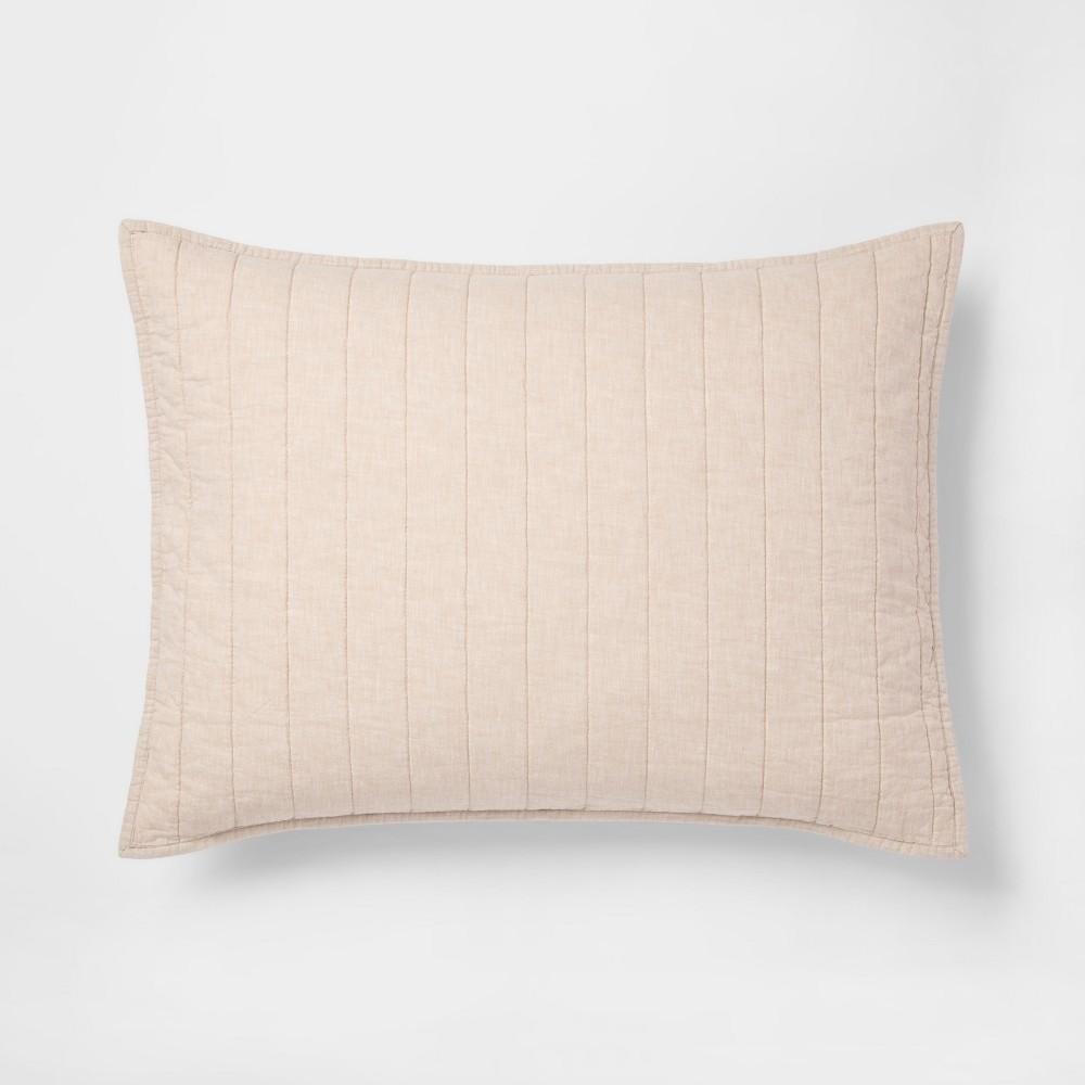 Brown Chambray Linen Blend Sham (Standard) - Threshold
