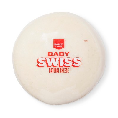 Baby Swiss Natural Cheese Wheel - Price Per lb. - Market Pantry™