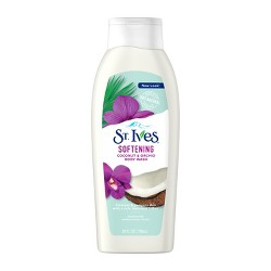 St. Ives Softening Coconut & Orchid Paraben-Free Body Wash Soap - 24 fl oz