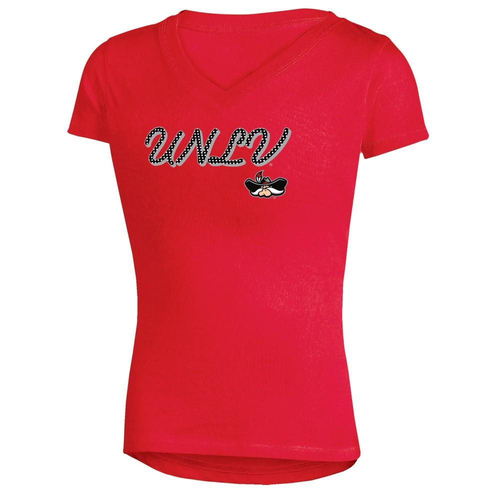 Unlv Rebels Girls' Short Sleeve Bright Lights V-Neck T-Shirt S, Multicolored