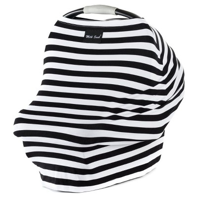 Milk Snob Multifunctional Cover- Black & White Signature Stripe