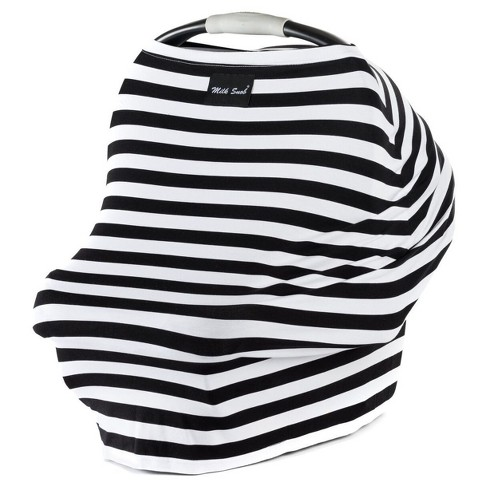 Milk Snob Multifunctional Cover- Black & White Signature Stripe - image 1 of 3