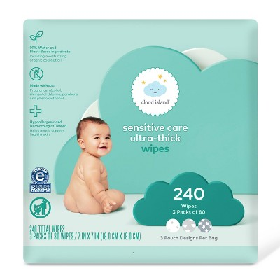 baby Wipes - 240ct - Cloud Island™