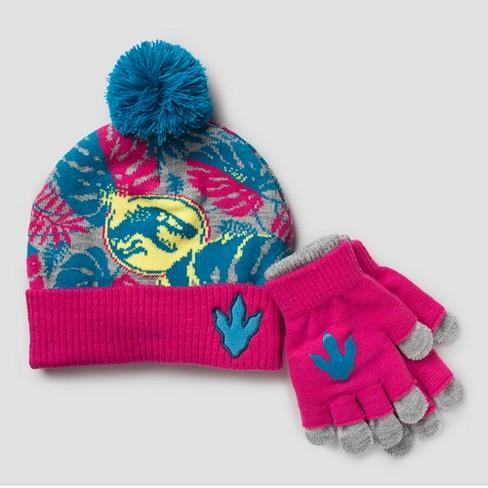 ec78a97a909e Girls  Jurassic World Hat   Gloves Set - One Size   Target