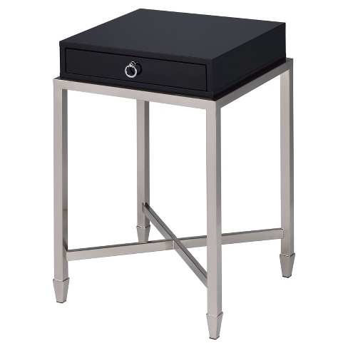End Table Black Brushed Nickel - image 1 of 6
