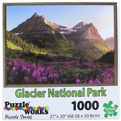 PuzzleWorks 1000 Piece Jigsaw Puzzle | Glacier Park