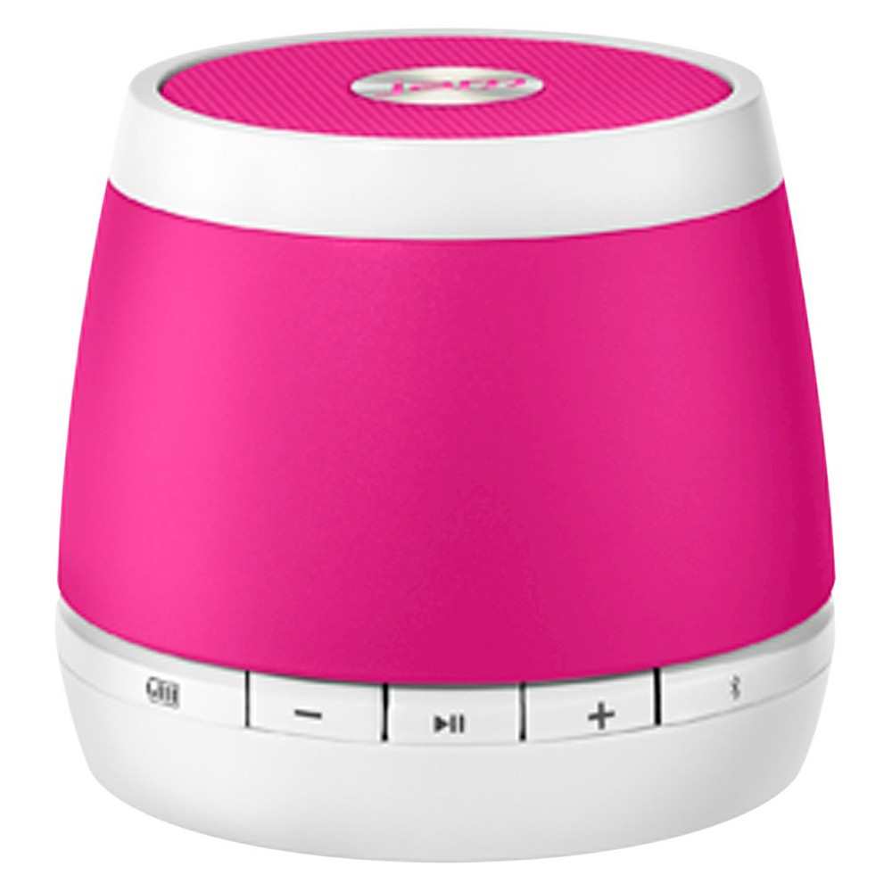 Hdmx Jam Classic Wireless Speaker - White/Pink (HX-P230PKF) Enjoy sweet sound in a sleek, portable design with this Jam Classic rechargeable Bluetooth wireless speaker. Use the wireless speaker just about anywhere –from the kitchen or living room to a dorm room, office, back deck, or den. To pair the speaker to a handheld device, simply enable the device's Bluetooth functionality and enter the code provided. The portable speaker can connect wirelessly from up to 30 feet away, and it works with most Bluetooth-enabled smartphones, tablets, notebooks and desktops, including iPad, iPhone, and iPod. The Jam wireless speaker features a rechargeable lithium-ion battery that provides up to four hours of wireless play. The speaker also comes with line-in capability, which allows you to connect your non-Bluetooth enables devices directly to the speaker. Using the line-in connection, jam to all your favorite tunes for up to 12 hours. A Usb to micro-Usb cord (included) makes it easy to recharge the battery. Simply connect the Usb to your computer wall adapter and the micro Usb to the Jam speaker. Color: White / Pink.