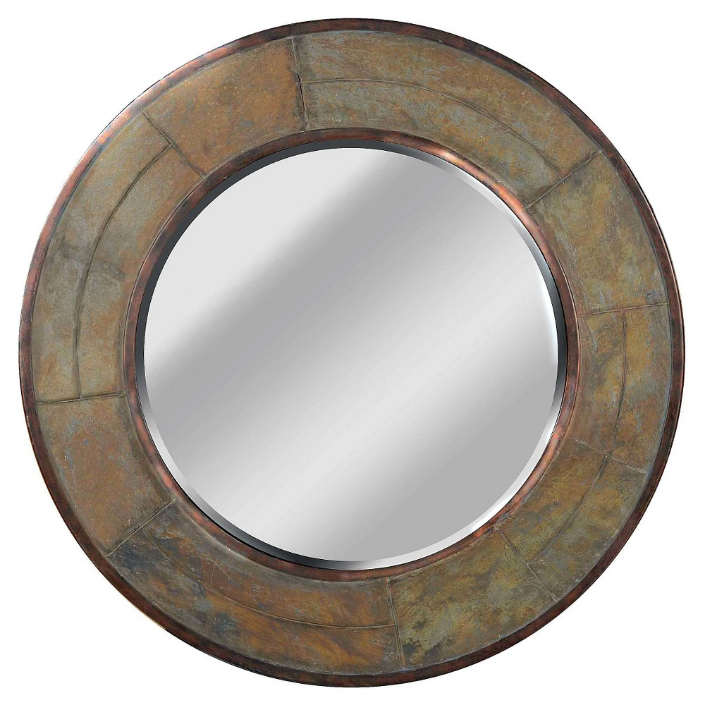 Round Decorative Wall Mirror - Kenroy Home, Multi-Colored