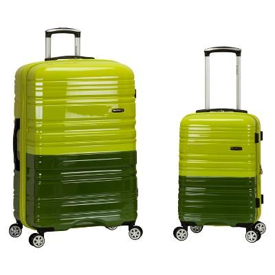 Rockland Melbourne 2pc Expandable Hardside Luggage Set - Lime/Green