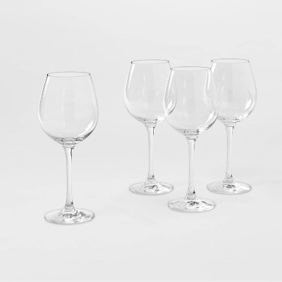 16.2oz 4pk Crystal White Wine Glasses - Threshold™