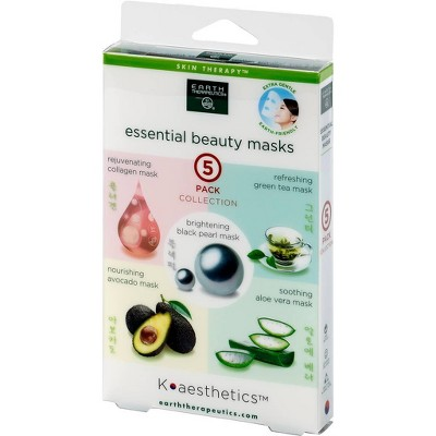 Earth Therapeutics Essential Beauty Assorted Mask - 5pk