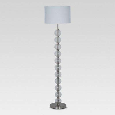 Glass Stacked Ball Floor Lamp Clear (Includes Energy Efficient Light Bulb)- Project 62™