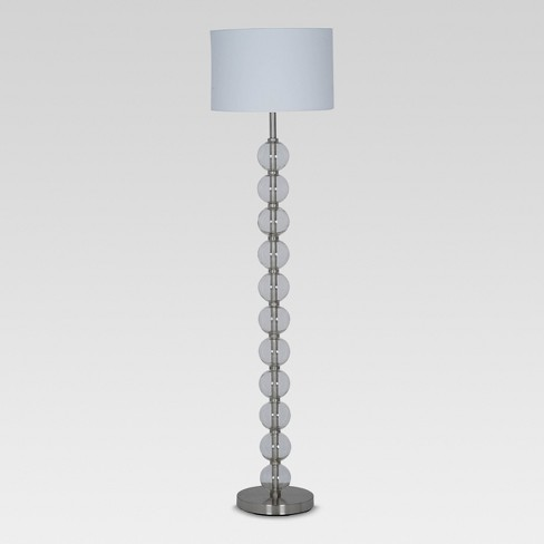 pretty nice 80c76 c0e9d Glass Stacked Ball Floor Lamp Clear (Includes Energy Efficient Light Bulb)  - Threshold™