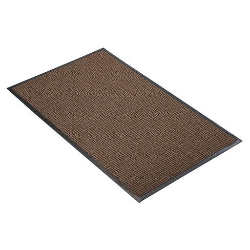Brown Solid Doormat - (2'x3') - HomeTrax - image 1 of 4
