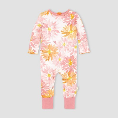Burt's Bees Baby® Baby Girls' Organic Cotton Autumn Picks Jumpsuit - Off-White/Pink 3M
