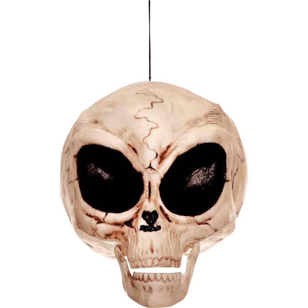 Image of Halloween Alien Skull, decorative holiday scene props