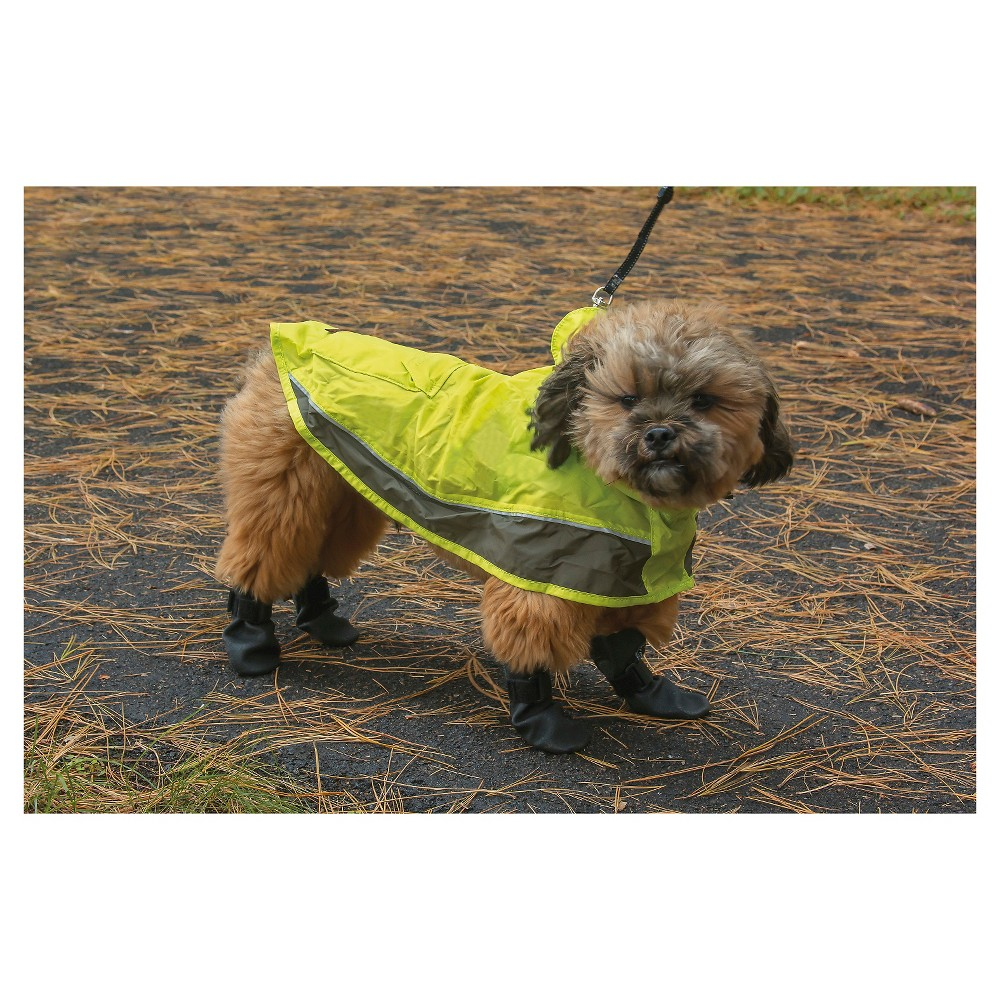 Ultra Paws Pooch Pocket Dog Raincoat - Lime - Small, Green