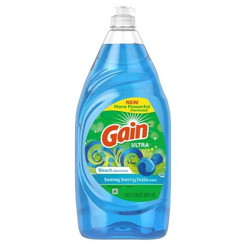 Gain Ultra Bleach Alternative Dishwashing Liquid Dish Soap - Honey Berry Hula - 38 fl oz - image 1 of 3