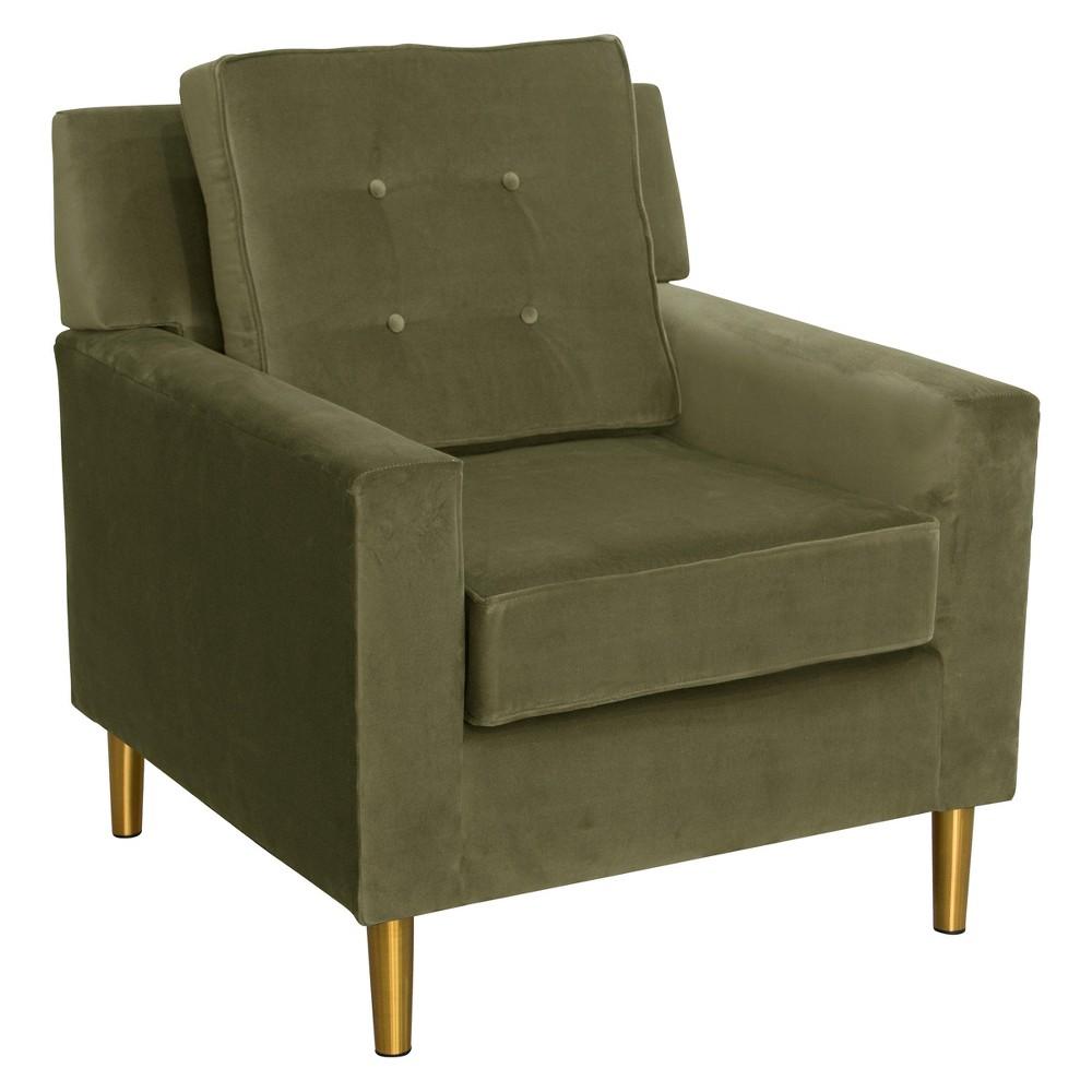 Parkview Chair with Metal Legs - Regal Moss - Skyline Furniture, Moss Green