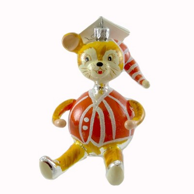 Laved Italian Ornaments Nightcap Mouse Christmas Bedtime  -  Tree Ornaments