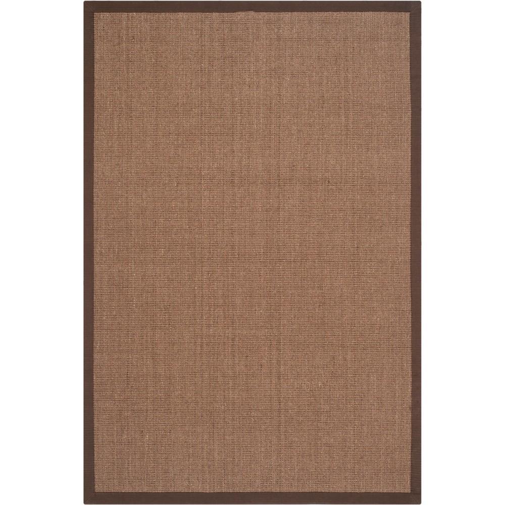 5'X8' Solid Loomed Area Rug Brown - Safavieh