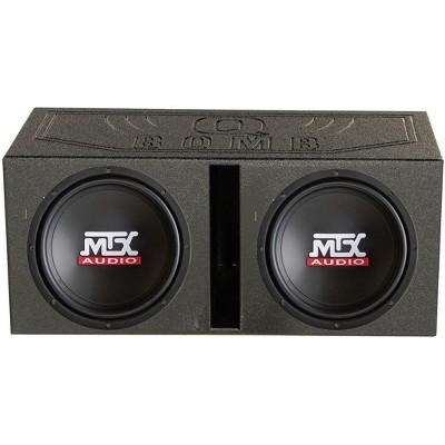 """2) MTX TN12-02 12"""" 400 Watt Car Audio Subwoofers + Ported Dual Box Enclosure"""