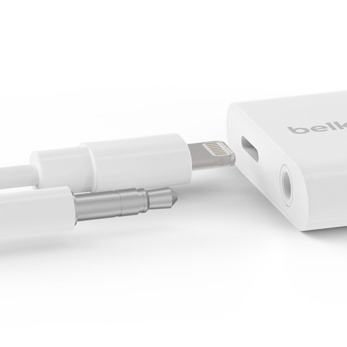 factory authentic 65edc caa50 Belkin RockStar 3.5mm Audio & Charging Adapter - White