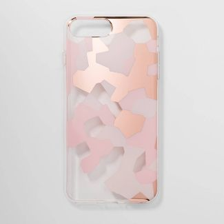 heyday™ Apple iPhone 8 Plus/7 Plus/6s Plus/6 Plus Clear Camo Print Case - Pink