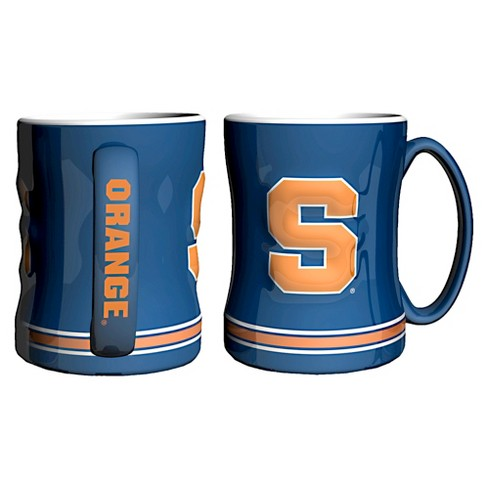 Syracuse Orange Boelter Brands 2 Pack Sculpted Relief Style Coffee Mug - Blue/ (15 oz) - image 1 of 1