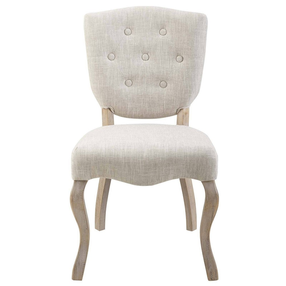Array Vintage French Upholstered Dining Side Chair Beige - Modway