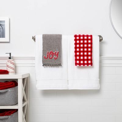2pk Joy Hand Towel Set Gray - Wondershop™